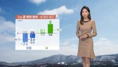 [날씨] 오늘 큰 추위 없어...낮 동안 포근