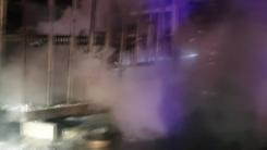 정읍 축사 컨테이너 화재...인명·가축 피해 없어