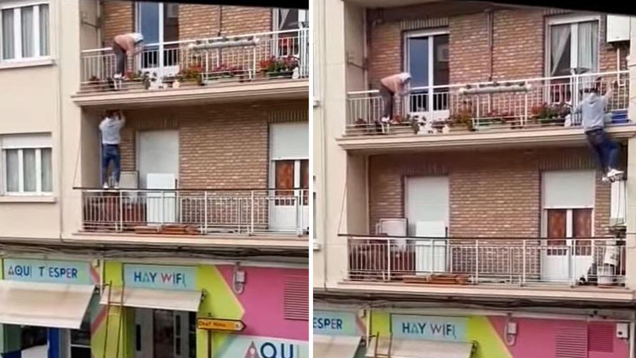 3층 건물 난간에 매달린 노인 구한 스페인 20대 청년