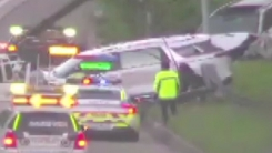 통영대전고속도로에서 차량 2대 사고...5명 부상