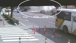 시내버스 멈추자 건물 와르르...CCTV 속 참사의 순간