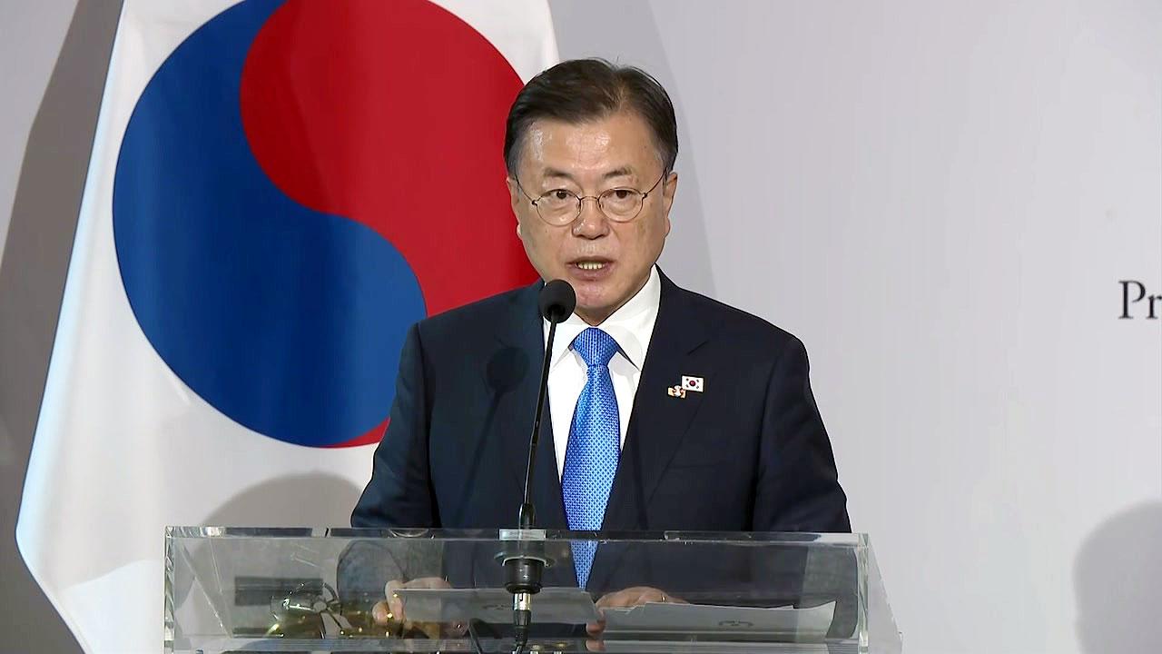 """[속보] 문 대통령 """"북한이 동의한다면 백신 공급 적극 추진"""""""
