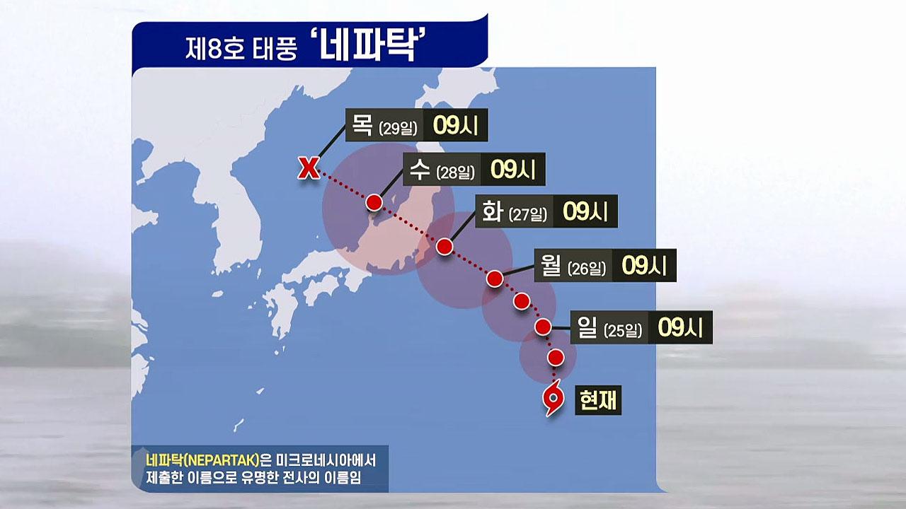 8호 태풍 '네파탁'...다음 주 일본 도쿄 인근 상륙할 듯