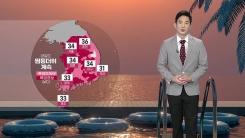 [날씨] 내일도 찜통더위 계속...서울 34도·춘천 36도까지 올라