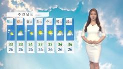 [날씨] 연일 35℃ 안팎 '찜통더위'...곳곳에 소나기