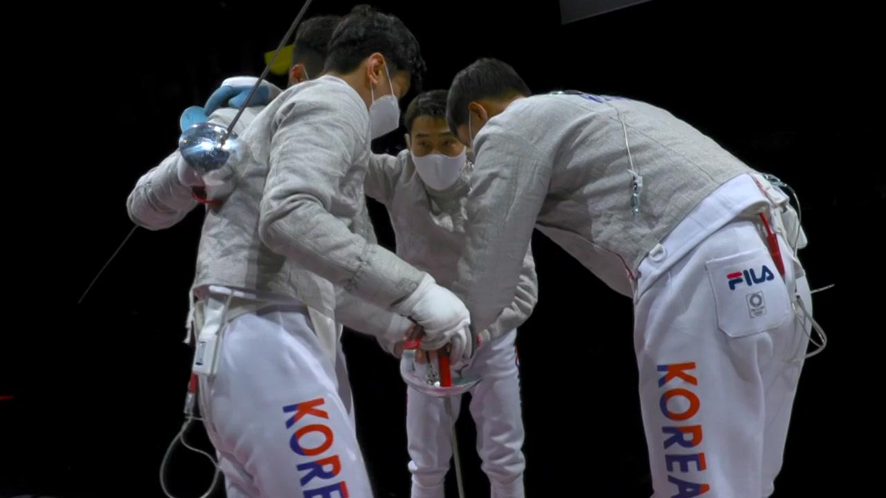 [뉴스큐] 펜싱 디펜딩챔피언 '金의환향'...도쿄 뒤흔든 환상 팀워크