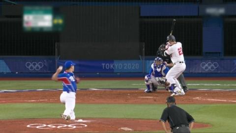 한국 야구, 미국에 역전패…도미니카와 격돌