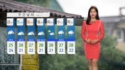 [날씨] 전국 구름 많음...중북부 비
