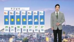 [날씨] 주말 내내 맑고 더워...아침 중부 짙은 안개