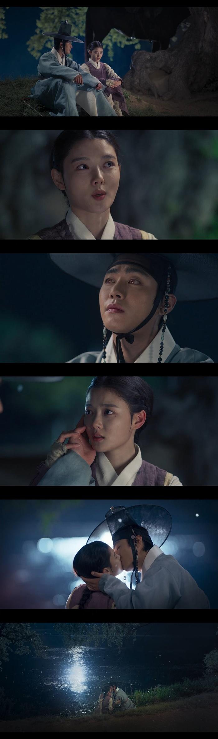 [Y리뷰]'홍천기' 김유정♥안효섭, 달빛 아래 첫 입맞춤…봉인된 마왕 꿈틀(종합)