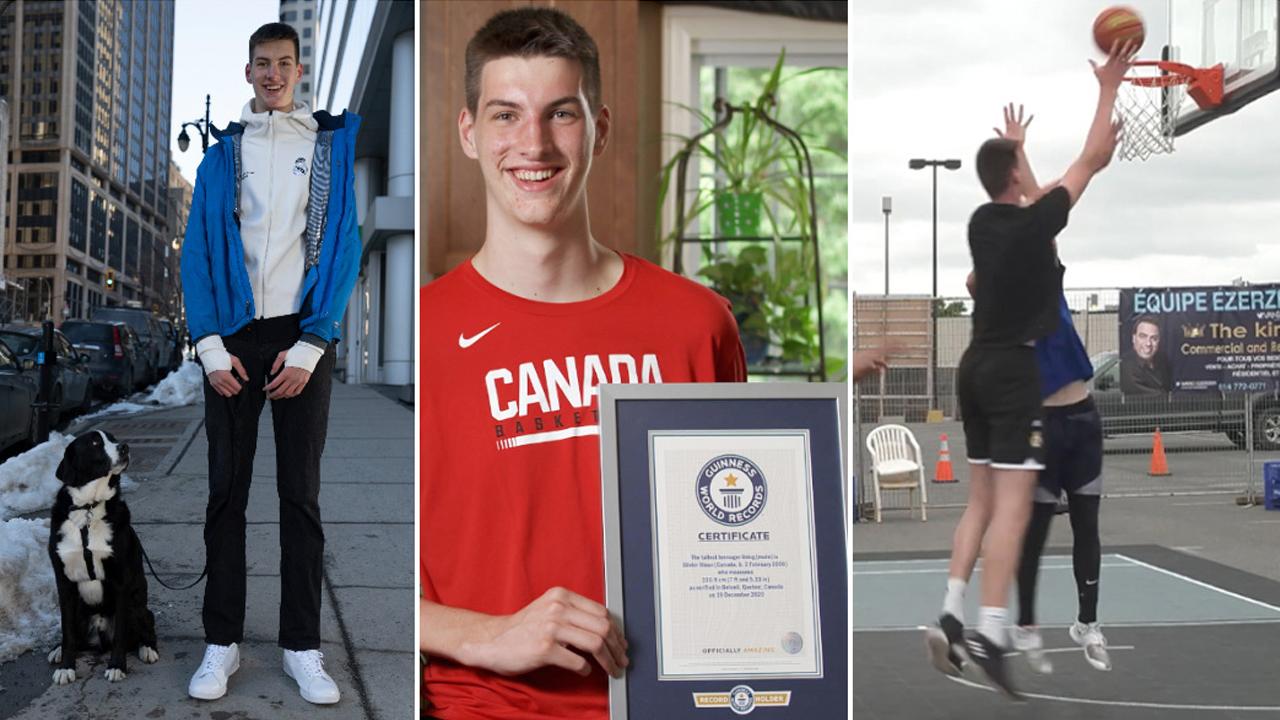 15살인데 키가 226.9cm...기네스북 오른 캐나다 소년