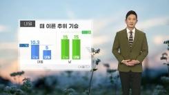 [날씨] 내일 때 이른 추위 기승...아침 기온 오늘보다 3~6도가량 낮아