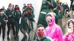 뉴욕 맨해튼에서 '오징어 게임'...80명 모집에 3천명 신청