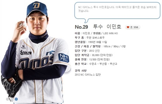'사생활 물의' NC이민호, 1회 5안타 6실점 조기강판