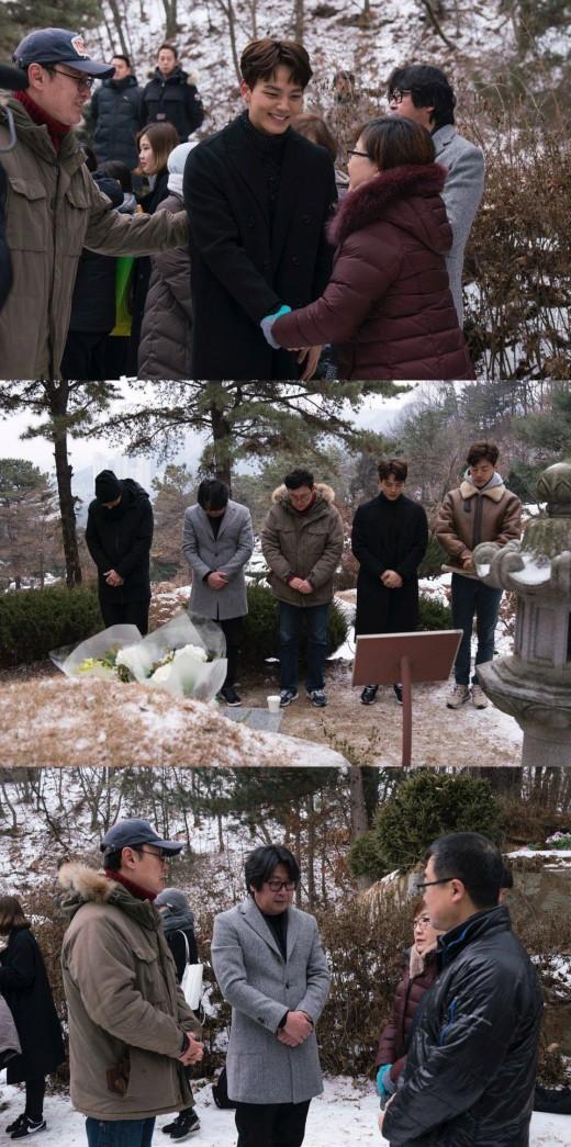 '1987' 김윤석·강동원·여진구, 故박종철 열사 묘소 참배_이미지