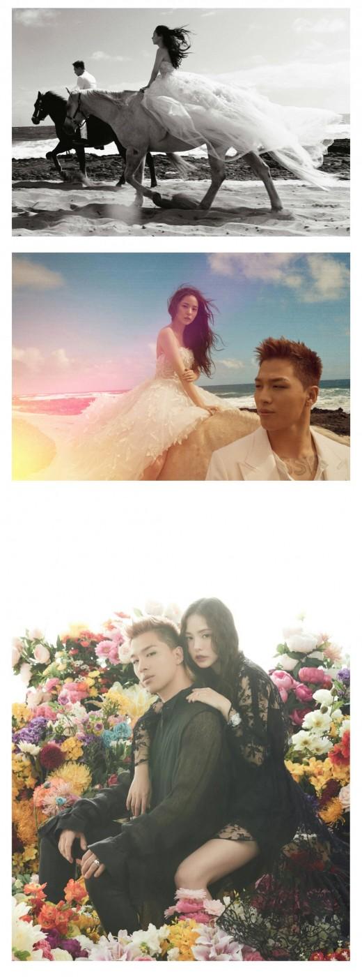 '말타는 신랑신부'…태양♥민효린, 영화같은 웨딩화보_이미지
