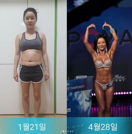 """""""통통녀→머슬퀸"""" 최은주, 운동 비포&애프터 공개_이미지"""