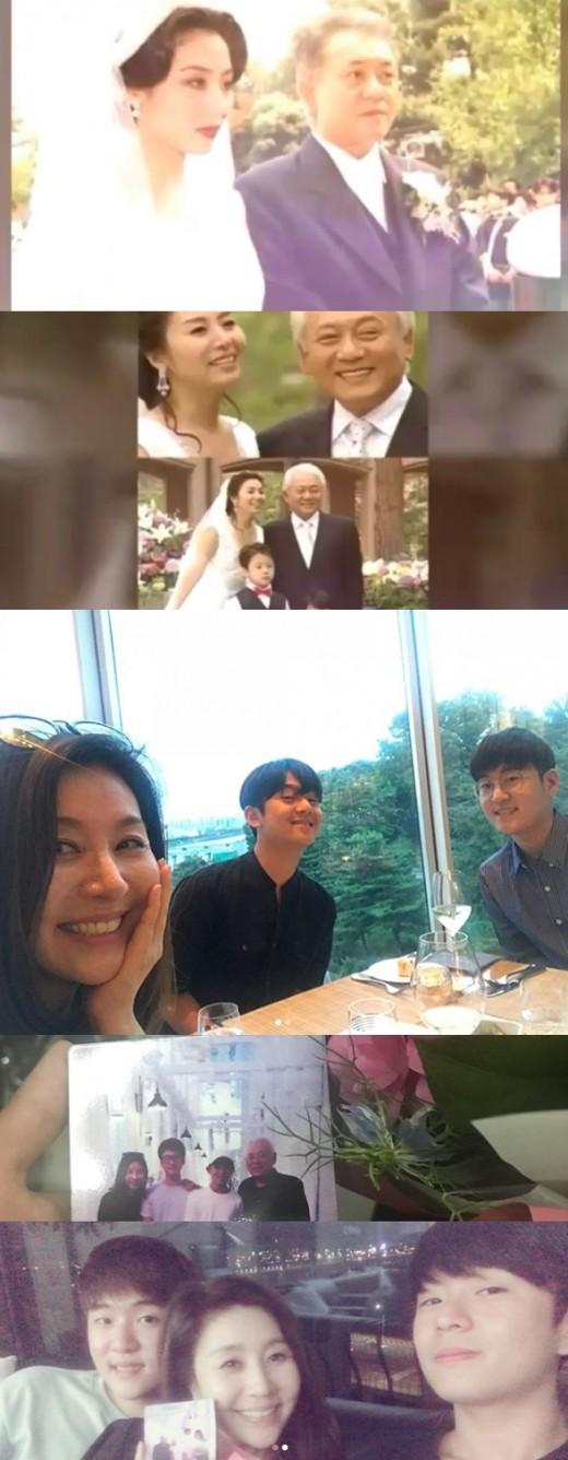 """""""결혼 23주년, 고맙고 사랑해"""" 최명길, 장성한 두 아들 공개_이미지"""