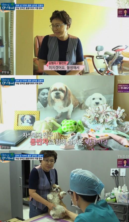 """'마이웨이' 김형자, 치매 반려견 돌보며 """"불쌍해서 미칠 것 같아""""_이미지"""