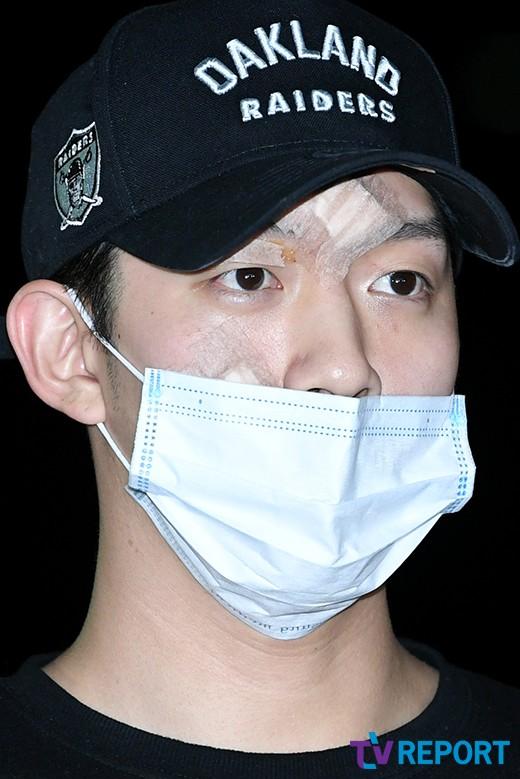 '구하라 남친' A씨 '상처 가득한 얼굴로 경찰 출석'