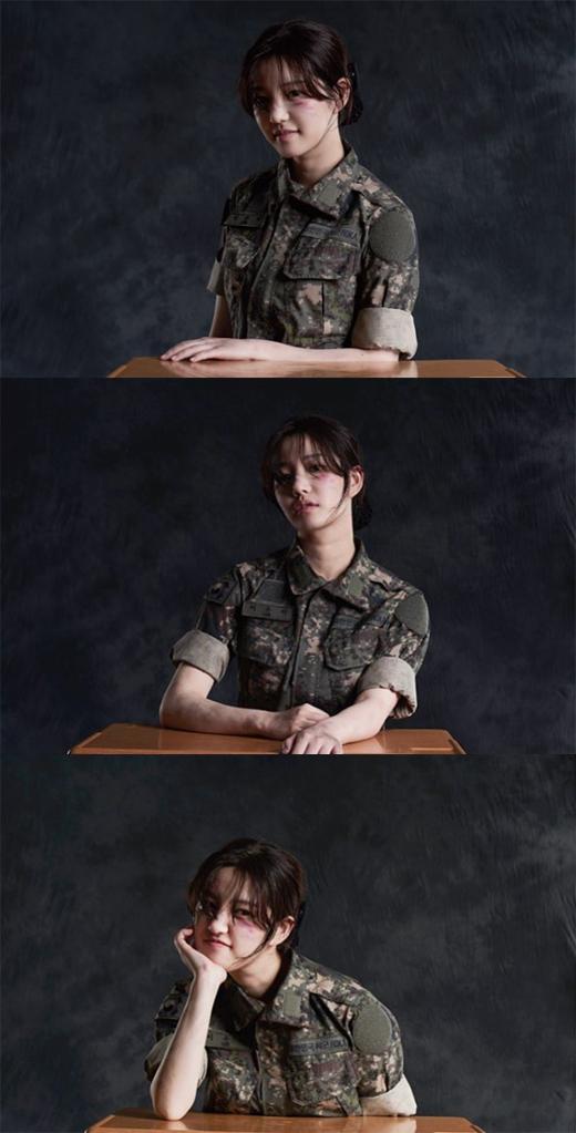 '진짜사나이300' 이유비, 군복에서 느껴지는 '악바리 매력'
