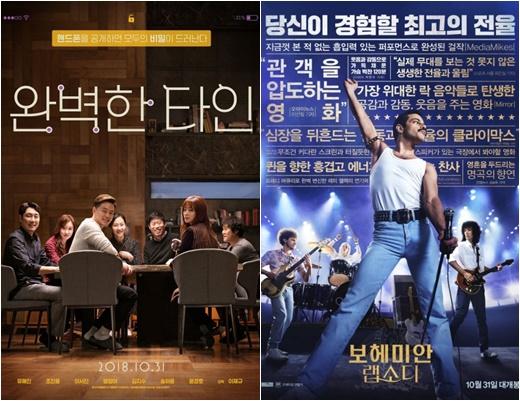 '완벽한타인'·'보헤미안 랩소디' 흥행 새판 짰다..'창궐' 일주일 천하