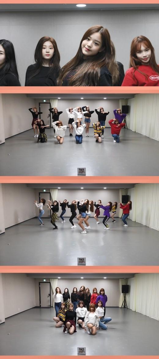 """""""이래서 국민픽"""" 아이즈원, '라비앙로즈' 안무 연습도 '무결점'"""