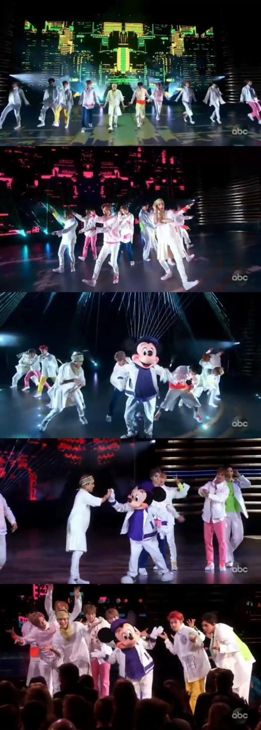 NCT126 美 미키마우스 90주년 기념 콘서트 달궜다..亞가수 유일