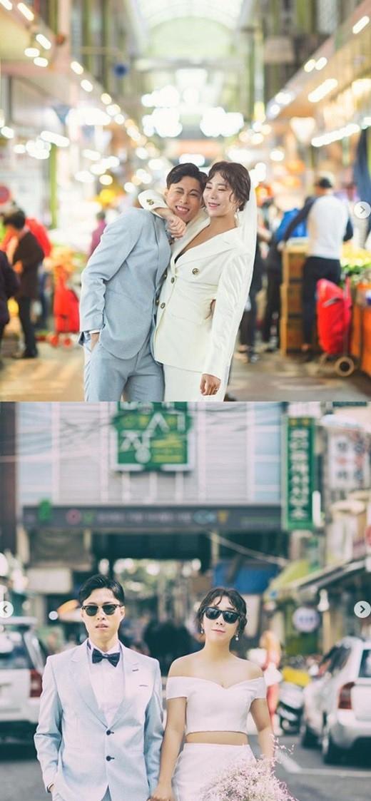 """'1월의 신부' 허안나, 예비신랑과 특별한 촬영 """"추억이 담긴 망원시장"""""""