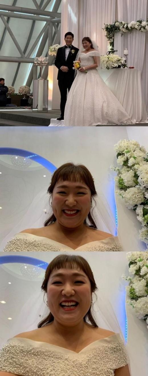 이수지, 미소가 떠나지 않는 신부→행복한 결혼식