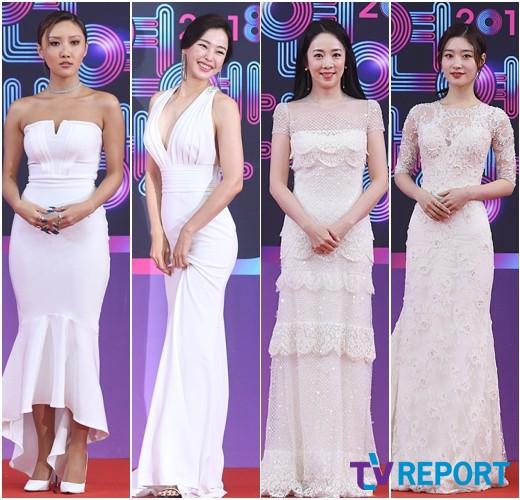 '2018 KBS 연예대상' 레드카펫 위 순백의 여신들