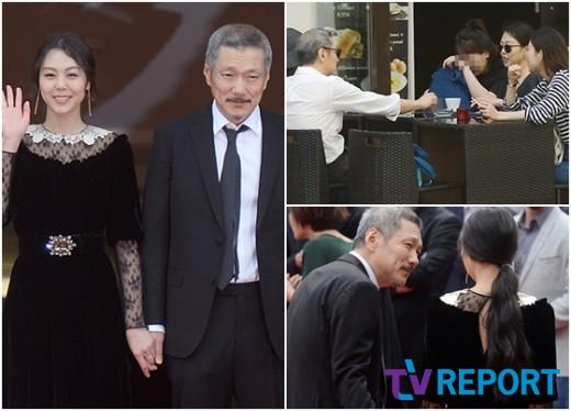"""""""자기야""""…홍상수·김민희 강남 한복판 공개데이트 포착"""