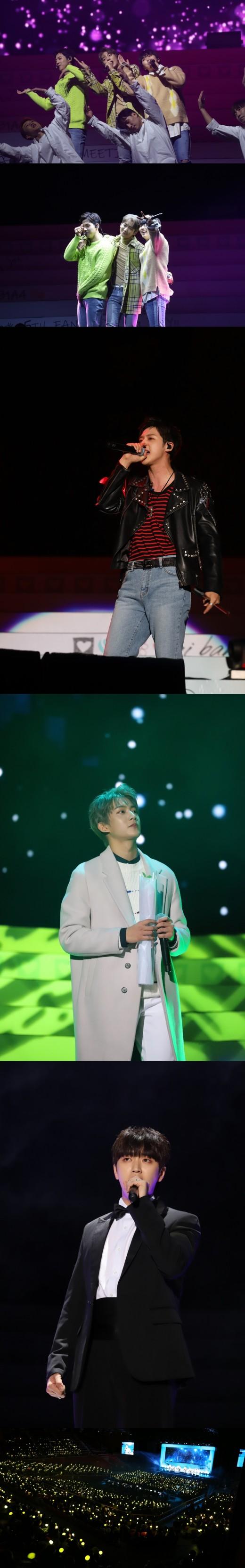 3인조 B1A4, 팬들과 함께 펑펑 울었다