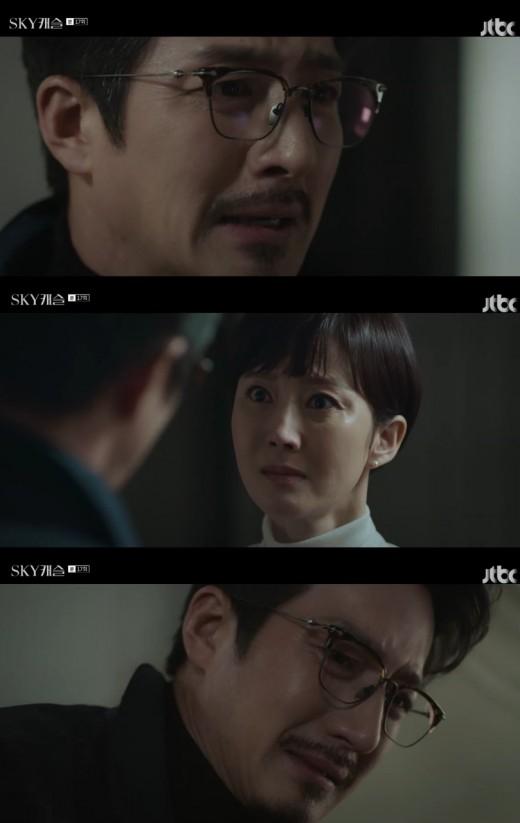 'SKY 캐슬' 정준호, 친딸 김보라 떠올리며 후회의 눈물_이미지