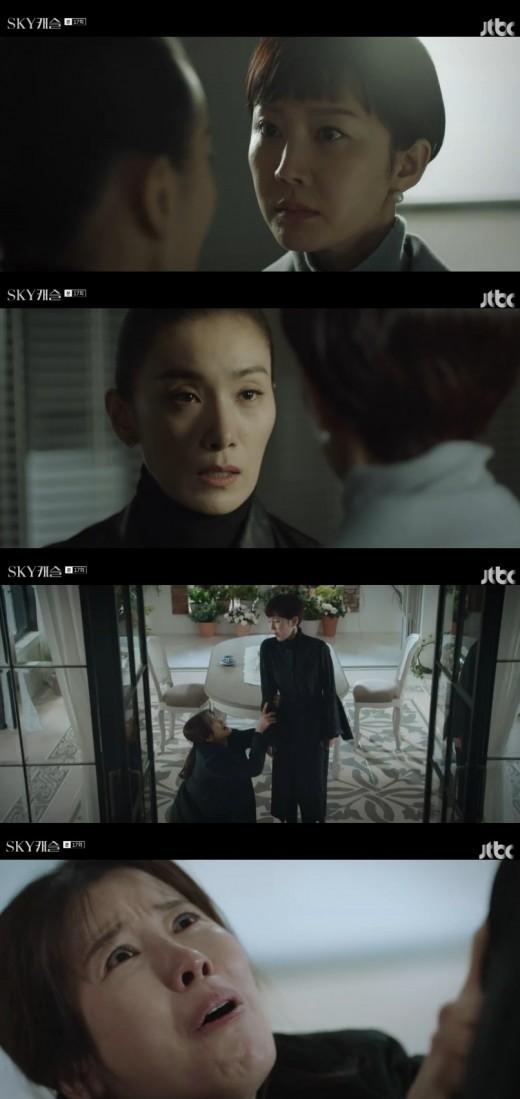 'SKY 캐슬 정준호, 김서형=김혜나 살인범 알았다... 목 조르며 분노_이미지