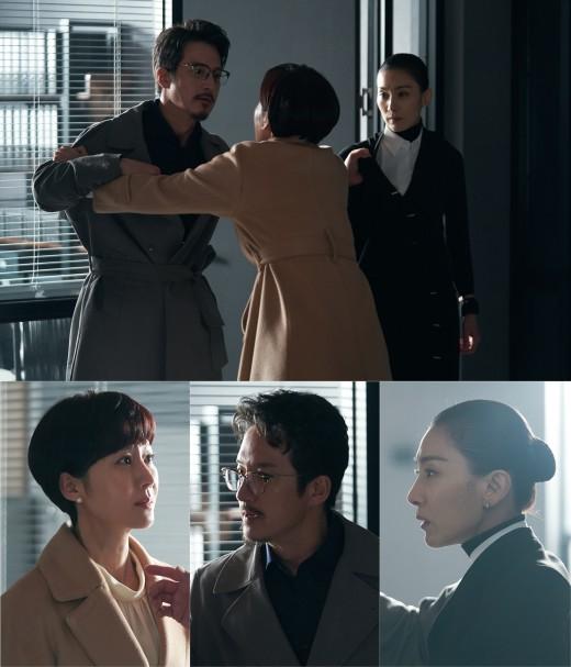 'SKY 캐슬' 염정아X정준호, 김서형 뜻 따를까…살벌한 삼자대면