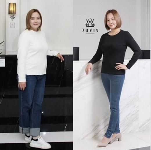 '리즈 몸매 회복ing' 다나, 14kg 다이어트 성공…전과 후 공개
