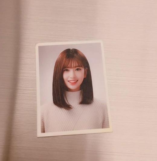 아이즈원 안유진, 증명사진 공개... 말도 안 되는 상큼美