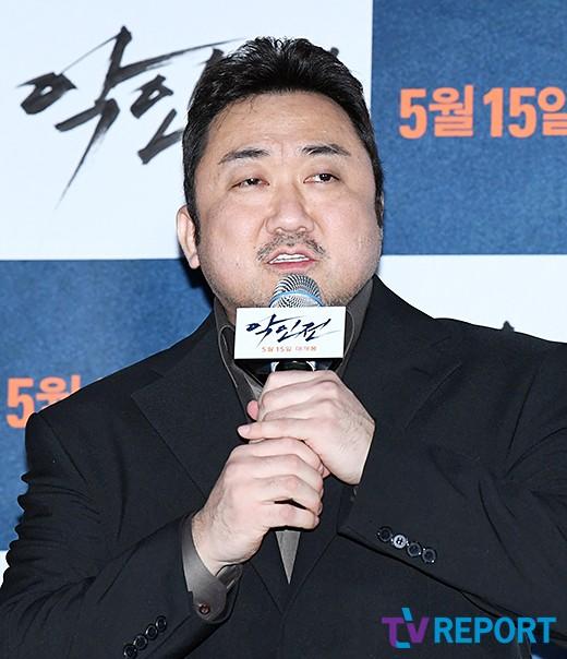 """'악인전' 마동석 """"'부산행' 때 칸영화제 못가 아쉬웠다..영광"""""""