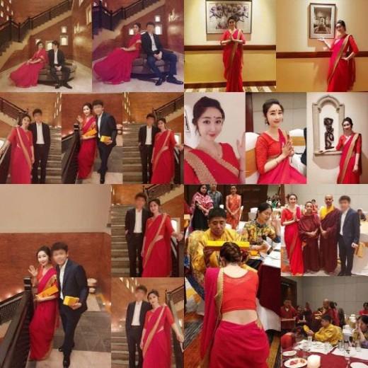 """성은채, 13살 연상 中사업가와 네팔서 네번째 결혼식 """"잘 살겠습니다""""_이미지2"""