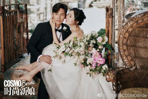 결혼식 앞둔 추자현♥우효광, 중국 웨딩화보 공개