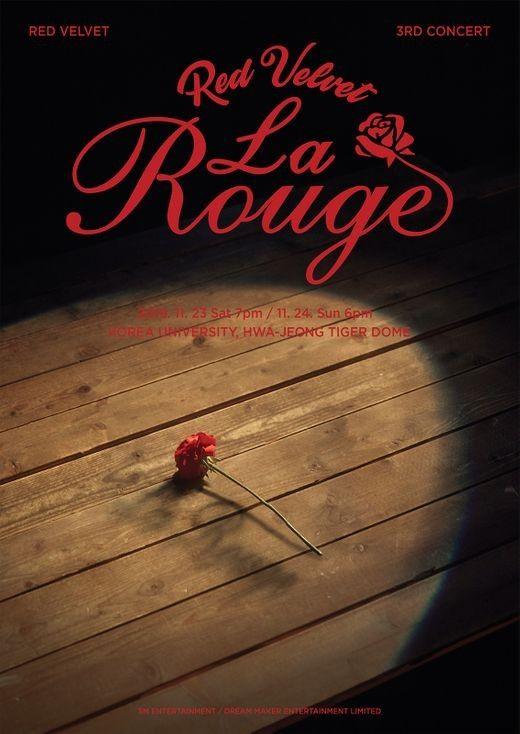 //레드벨벳, 단독 콘서트 'La Rouge' 11월 23, 24일 개최