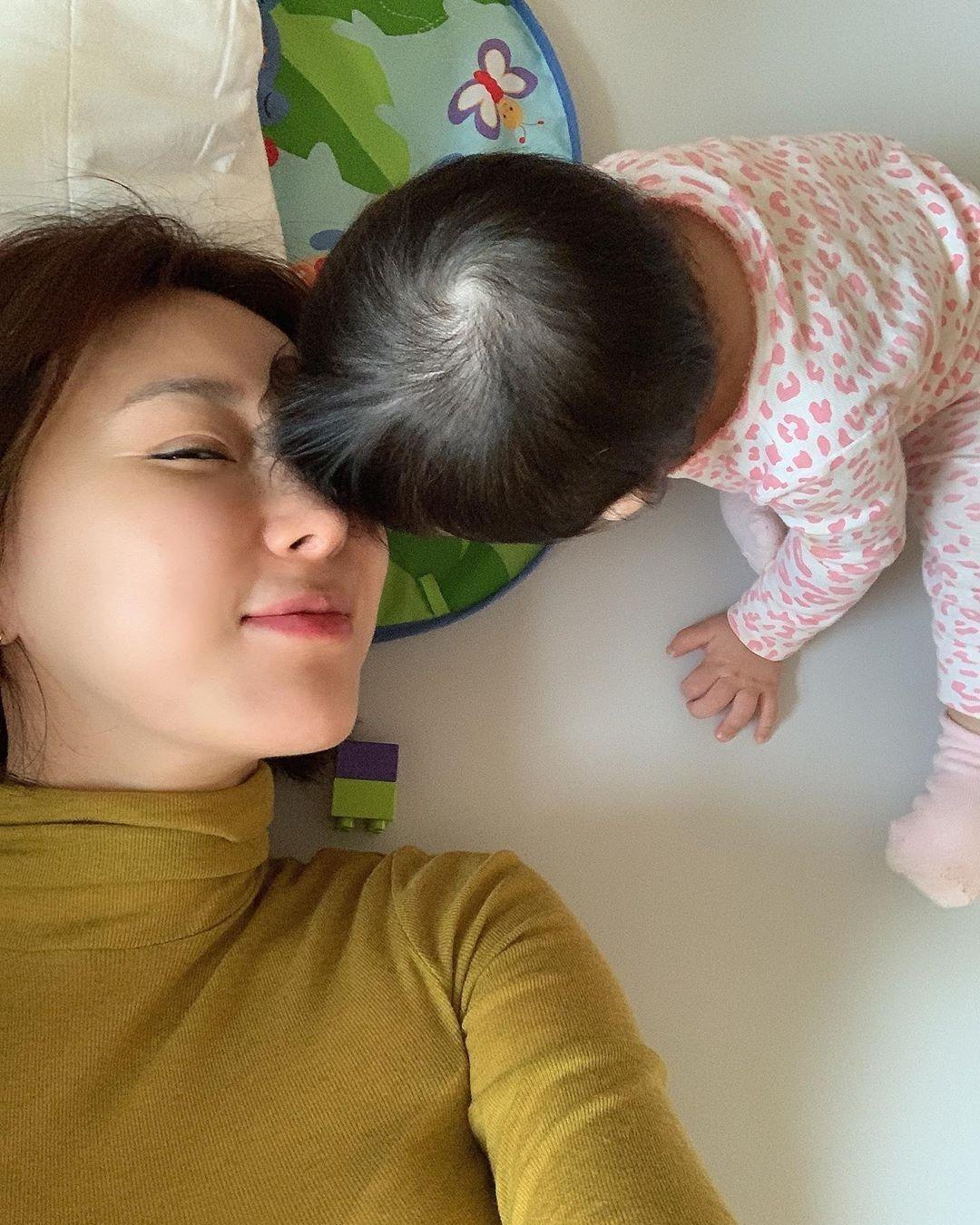 """이지혜, 작은 태리와 행복한 시간 """"나의 행복 오늘도 화이팅"""""""