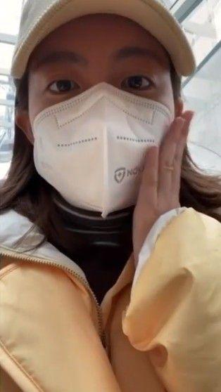 남지현 근황, 미세먼지 방지 마스크 쓰고 찰칵