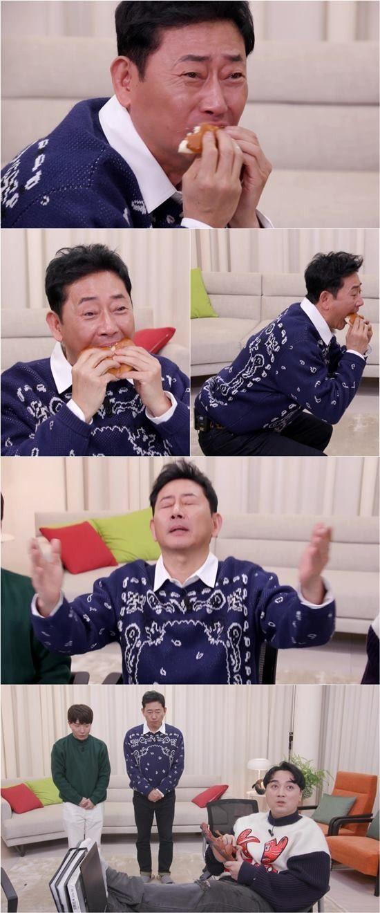 '마리텔V2' 전광렬, '크림빵 짤' 최신판 공개…'빵神 강림 댄스'까지