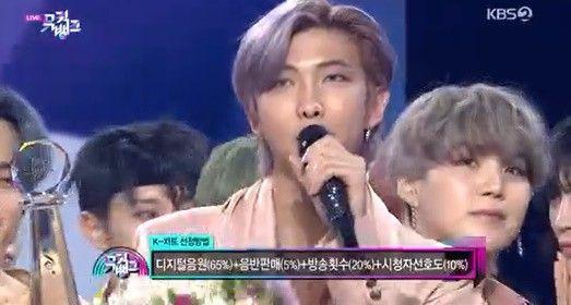 """'뮤직뱅크' 방탄소년단, 컴백 동시 K-차트 1위 """"한국서 1년 만 1위 행복"""""""