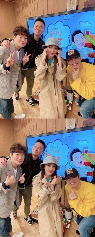 """산다라박, 허규·손호영과 '컬투쇼' 인증샷…""""'또! 오해영' 팀"""""""