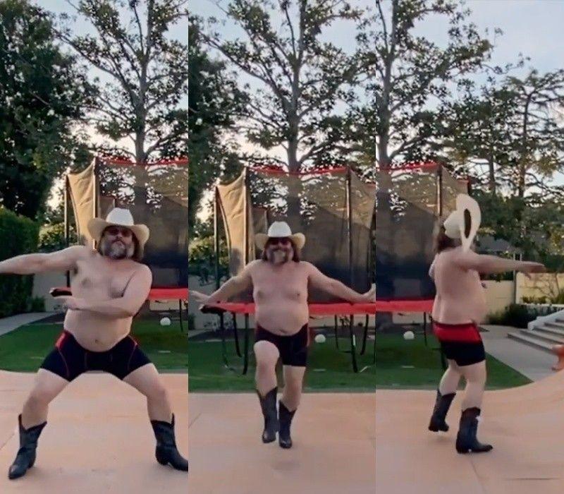 잭 블랙, 유쾌한 사회적 거리두기…'코믹+격렬' 홈댄스