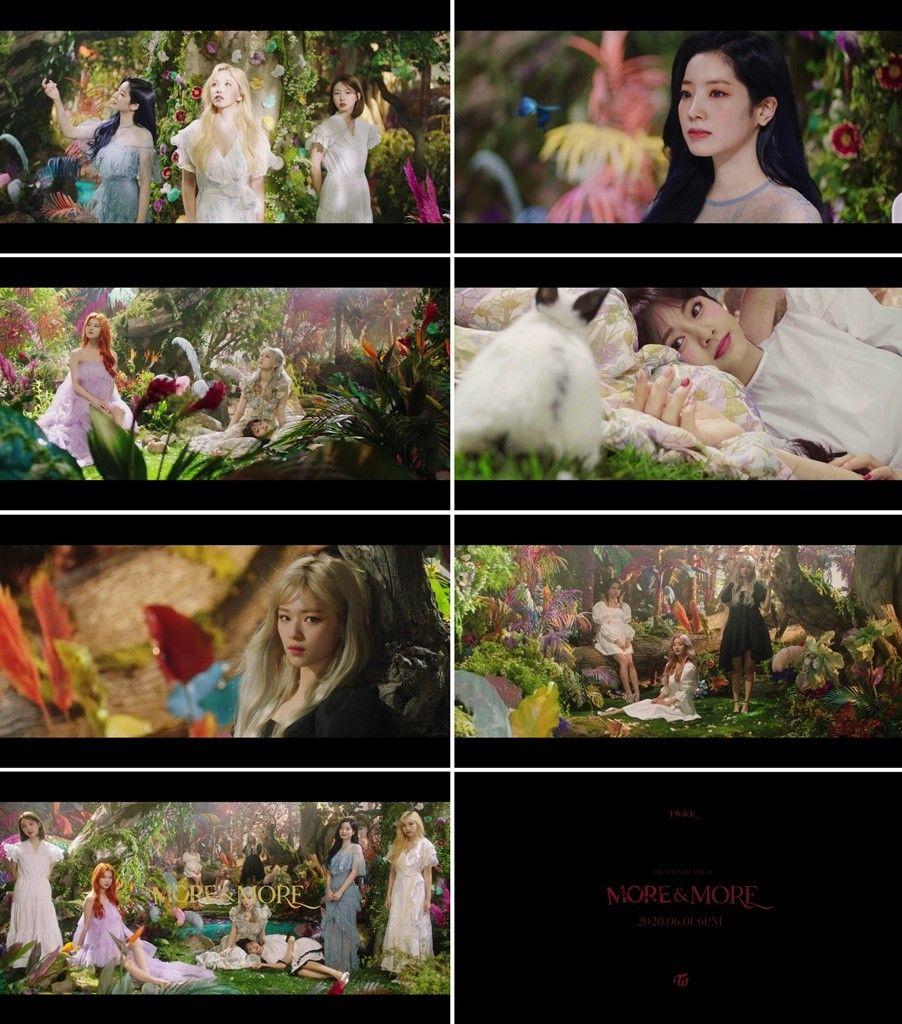트와이스, 신곡 'MORE & MORE' 뮤비 트레일러 공개...빛나는 숲속 요정들