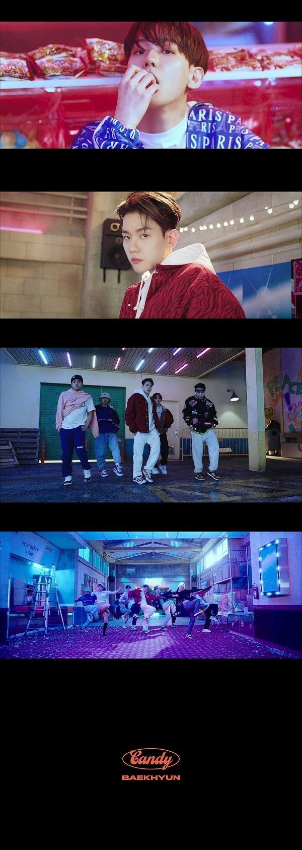 백현, 신곡 '캔디' MV 티저 공개…자유분방+리드미컬 퍼포먼스